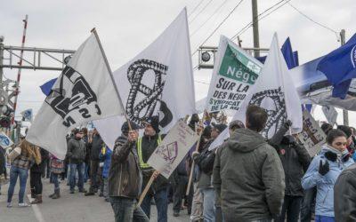 Manifestation de solidarité avec les grévistes à Valleyfield