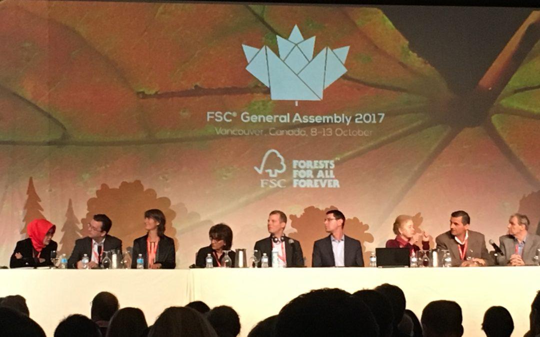 La FIM présente à la 8e assemblée générale de FSC International qui se déroule du 8 au 13 octobre, à Vancouver