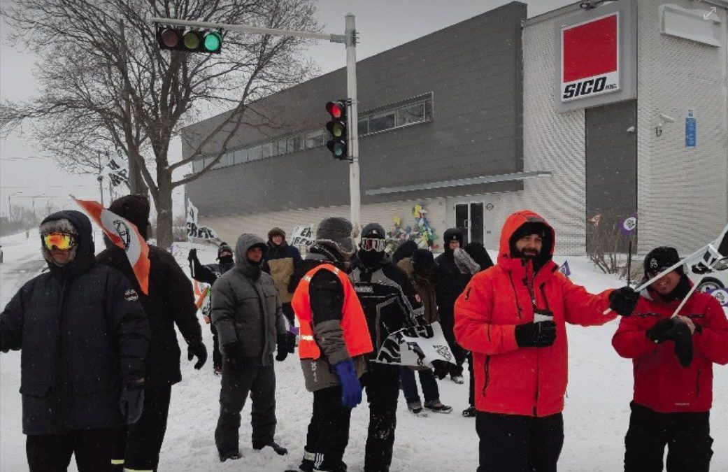 Conflit de travail à PPG Canada division Sico de Beauport –  Les travailleuses et travailleurs de Sico en grève générale illimitée