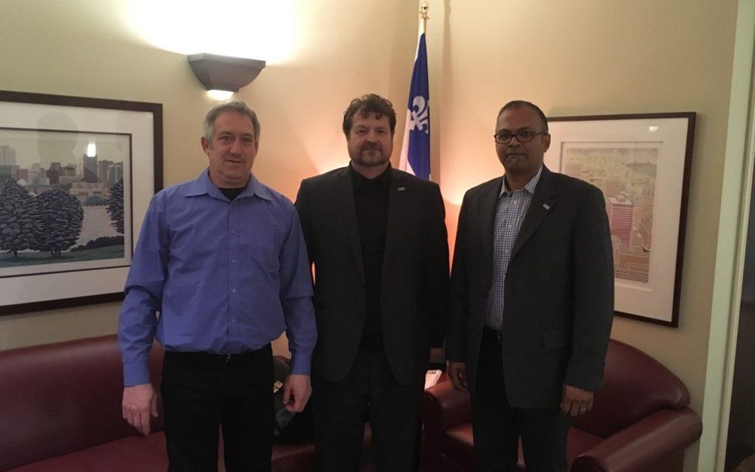 Rencontre avec le bureau du ministre de l'Économie (lundi 18 mars)