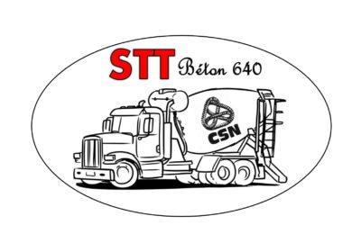C'est réglé pour le STT du Béton 640 – CSN