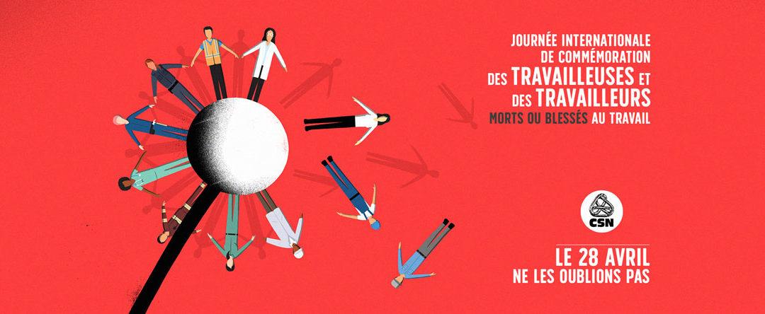 Journée internationale de commémoration des travailleuses et des travailleurs morts ou blessés au travail